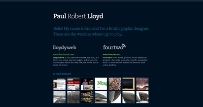 Paul Robert Lloyd Website Screenshot