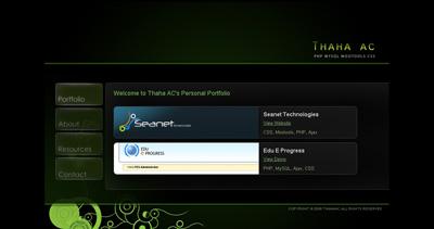 Thaha AC Website Screenshot