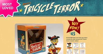 Tricycle Terror Website Screenshot