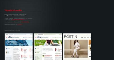 Vincent Gosselin Website Screenshot
