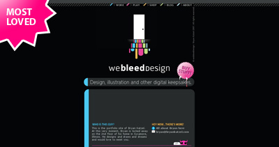 We Bleed Design Website Screenshot