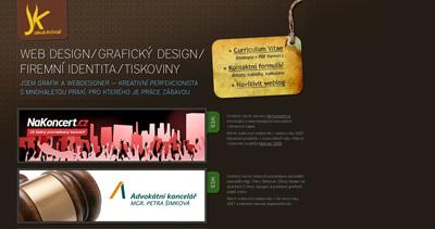 Jakub Krčmář Website Screenshot