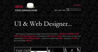Zee The Designer Website Screenshot