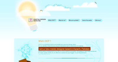 Conceptual Konfusion Creative Park Website Screenshot