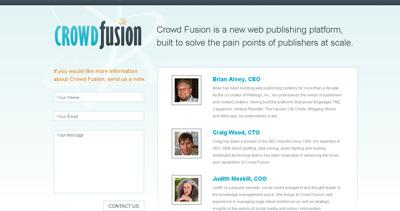Crowd Fusion Website Screenshot