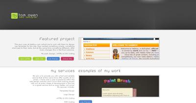 Tom Owen Website Screenshot