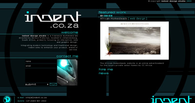indent design studio Website Screenshot