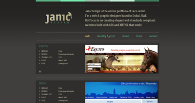 Janic Design Website Screenshot