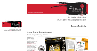 Kihap Designs Website Screenshot