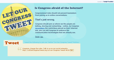 Let Our Congress Tweet! Website Screenshot