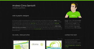 Andrea Cima Serniotti Website Screenshot