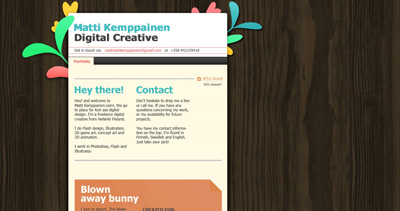 Matti Kemppainen Digital Creative Website Screenshot