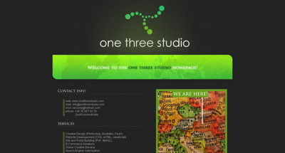 One Three Studio Website Screenshot