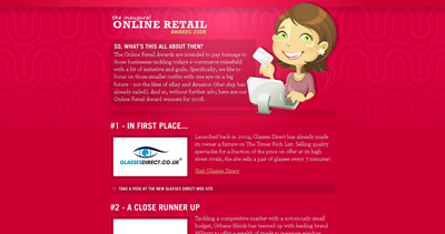 Online Retail Awards 2008 Website Screenshot