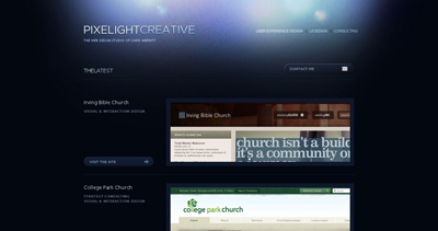 Pixelight Creative Website Screenshot