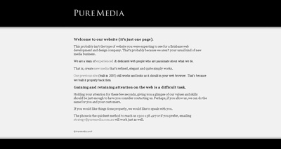 Puremedia Website Screenshot