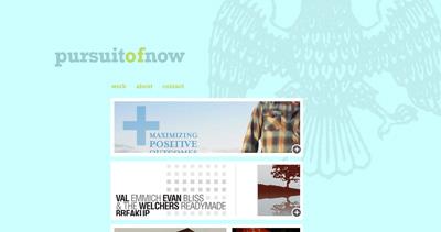 pursuit of now Website Screenshot