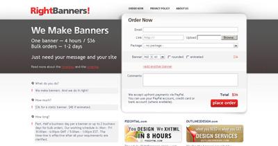 RightBanners! Website Screenshot