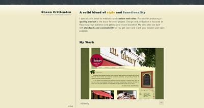 Shaun Crittenden Website Screenshot