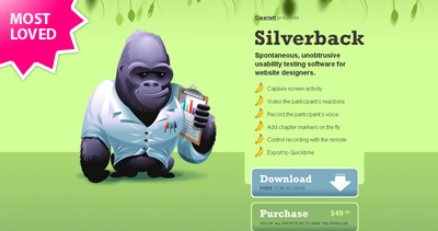 Silverback Website Screenshot