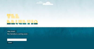 The Helvetia Website Screenshot