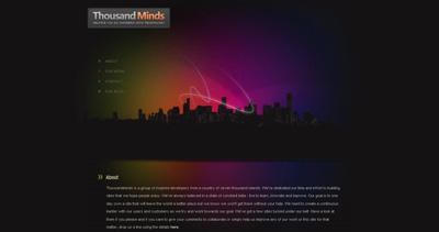 Thousandminds Website Screenshot