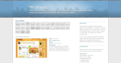 TR1 Design Website Screenshot