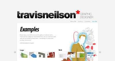 Travis Neilson Website Screenshot