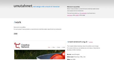 umutahmet Website Screenshot