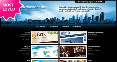 Bainbridge Studios Website Screenshot