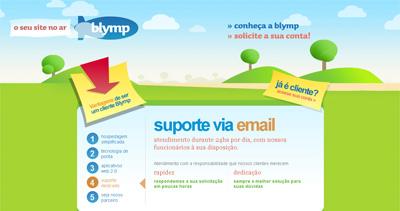 Blymp Hospedagem Website Screenshot