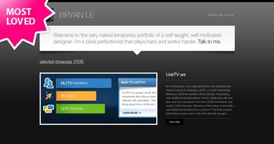 Bryan Le Website Screenshot