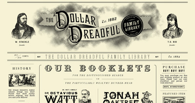 The Dollar Dreadful Family Library Website Screenshot