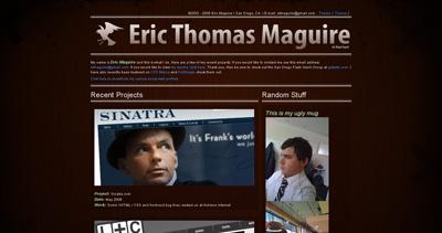 Eric Maguire Website Screenshot