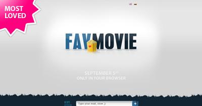 FavMovie Website Screenshot