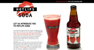 HOTLIPS Soda Website Screenshot