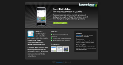 Kalculator Website Screenshot