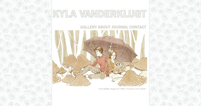 Kyla Vanderklugt Website Screenshot
