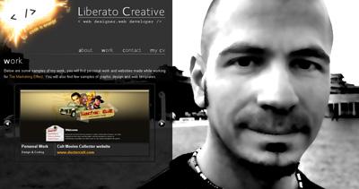 Liberato Creative Website Screenshot