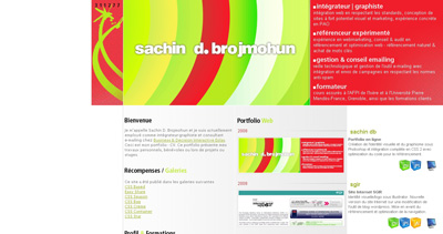 Sachin D. Brojmohun Website Screenshot