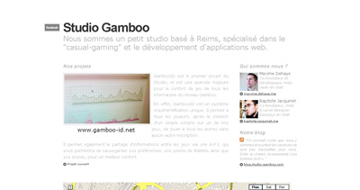 Studio Gamboo Website Screenshot