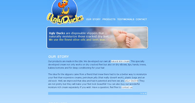 Ugly Ducks Website Screenshot