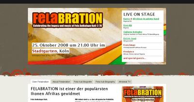 Afrobeat Festival Website Screenshot