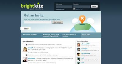 brightkite Website Screenshot