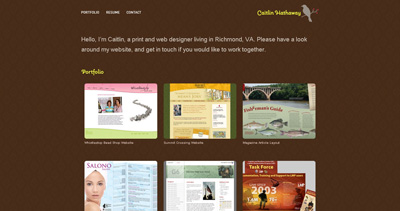 Caitlin Hathaway Website Screenshot