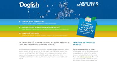 Dogfish Internet Website Screenshot