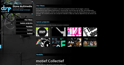 Dtone Multimedia Website Screenshot