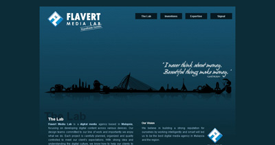 Flavert Media Lab Website Screenshot