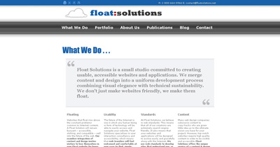 Float Solutions Website Screenshot