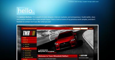Jamison Banham Website Screenshot